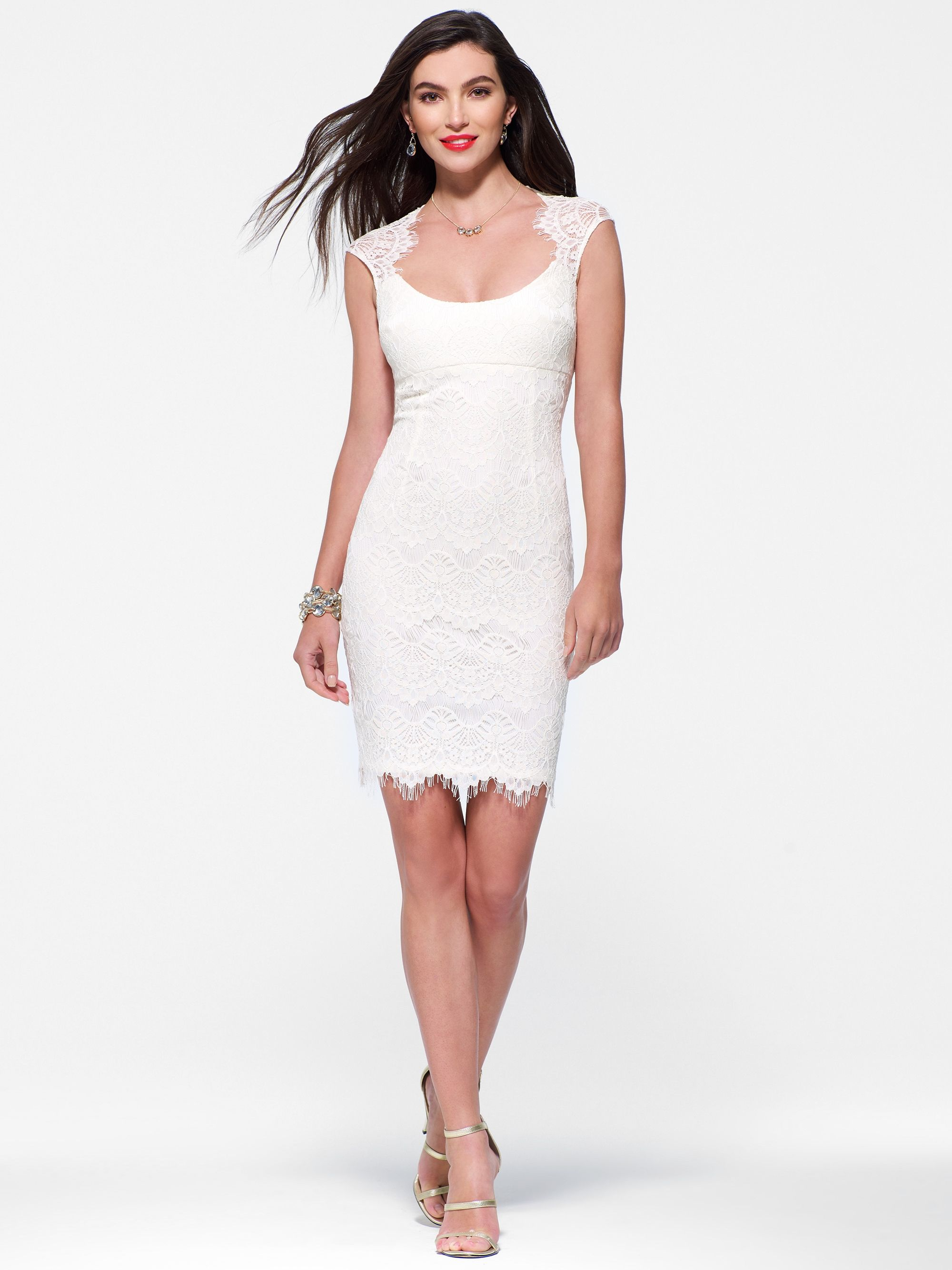 White lace dress from cache would be a pretty rehearsal dinner ...