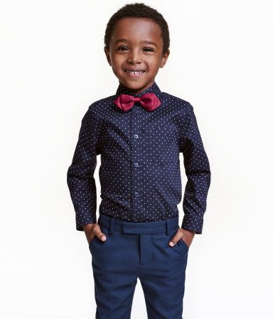 6c36b850a Shirt with Bow Tie Tie