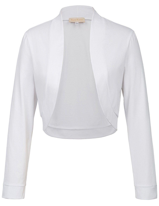 Women S Long Sleeve Shrug Bolero Open Front Cotton Cardigan White Cx186tty7d7 Ladies Shrugs Long Sleeve Shrug Black White Cotton [ 1500 x 1158 Pixel ]
