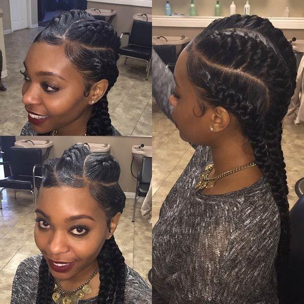 31 Goddess Braids Hairstyles for Black Women | Hair ...