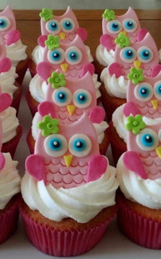 Owls cupcakes Ms Elizabeth Kate Pinterest Cake Boys cupcakes