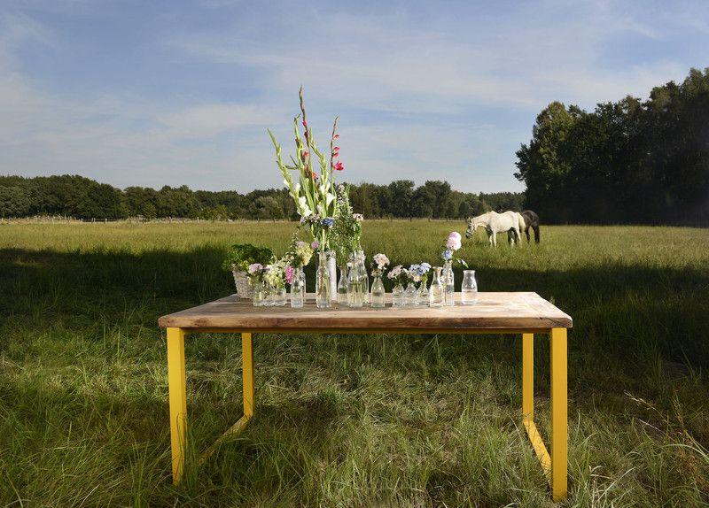 Esstische Esstisch Untergestell weiss Christine 190 x 90