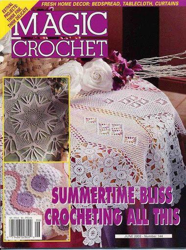 Magic crochet № 144 - Edivana - Álbuns da web do Picasa   Doilies ...