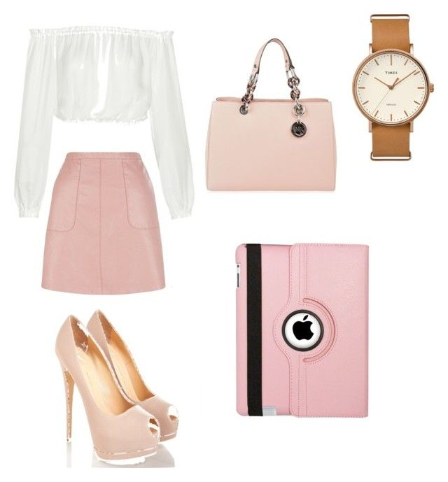 """""""work outfit"""" by lychavarria on Polyvore featuring Timex, Elizabeth and James, MICHAEL Michael Kors and Natico"""