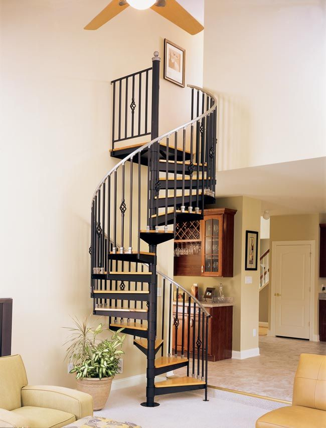 how to build a metal spiral staircase