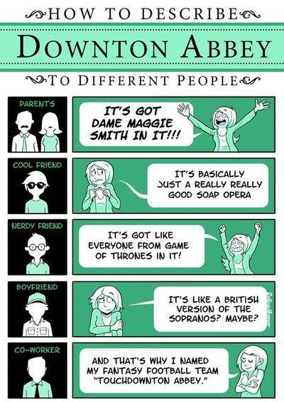 How to describe Downton Abbey...