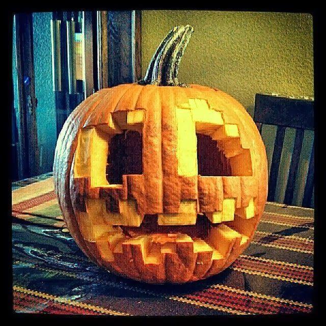 minecraft zombie pumpkin template  Cool Pumpkin Carving Ideas: More Epic Pumpkin Carvings 5M ...