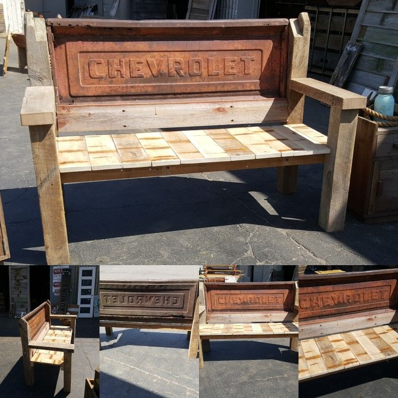 Barn Wood Furniture For Sale: BARN WOOD! Here Is A Custom Tailgate Bench We Just