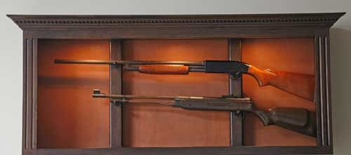 locally amish custom made gun safe cabinet tinctured 2 long gun wall rh pinterest com Custom Gun Display Cabinet Wall Wall Mounted Gun Cabinet Plans