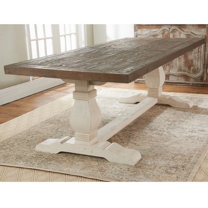 Two Tone Farmhouse Dining Table In 2020 Farmhouse Dining Room