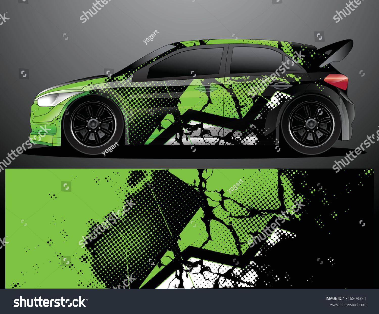 Rally Car Decal Grafik Wrap Vektorillustration Stock Vektorgrafik Lizenzfrei 1716808384 In 2020 Car Decals Rally Car Car