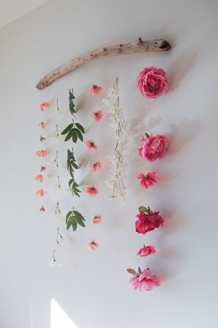 DIY Flower Wall Hanging | Faux flowers, Florals and Walls