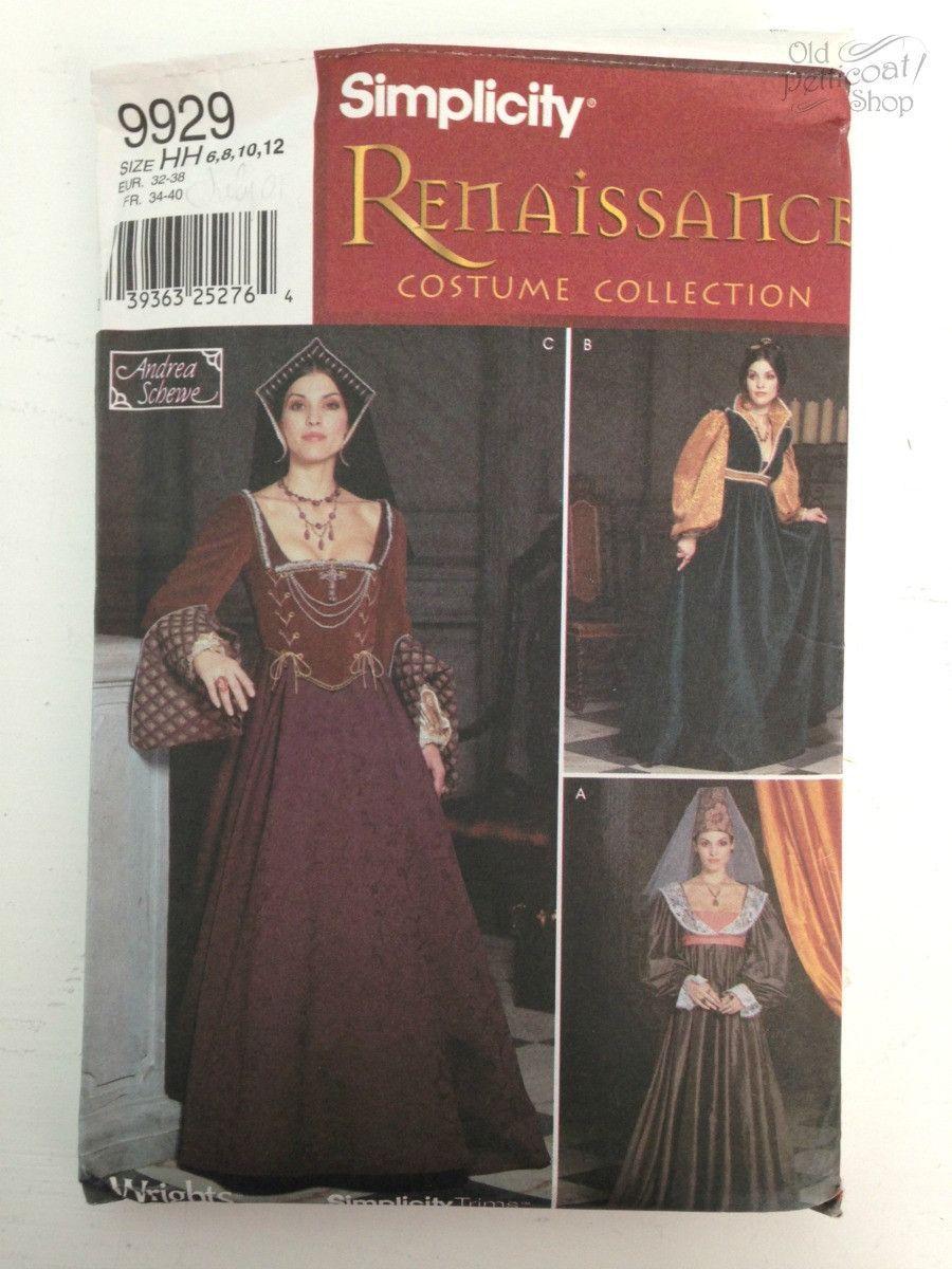 Jen's De-Stash: Simplicity 9929 Renaissance Costume Pattern 6-12