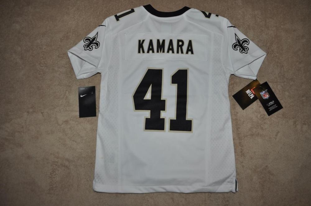 buy popular 574de 5a7c3 Alvin Kamara New Orleans Saints Youth Game Football Jersey ...
