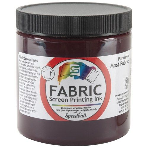 Fabric Screen Printing Ink 8 Ounces-Burgundy | SongbirdCrafts - Paint & More on ArtFire
