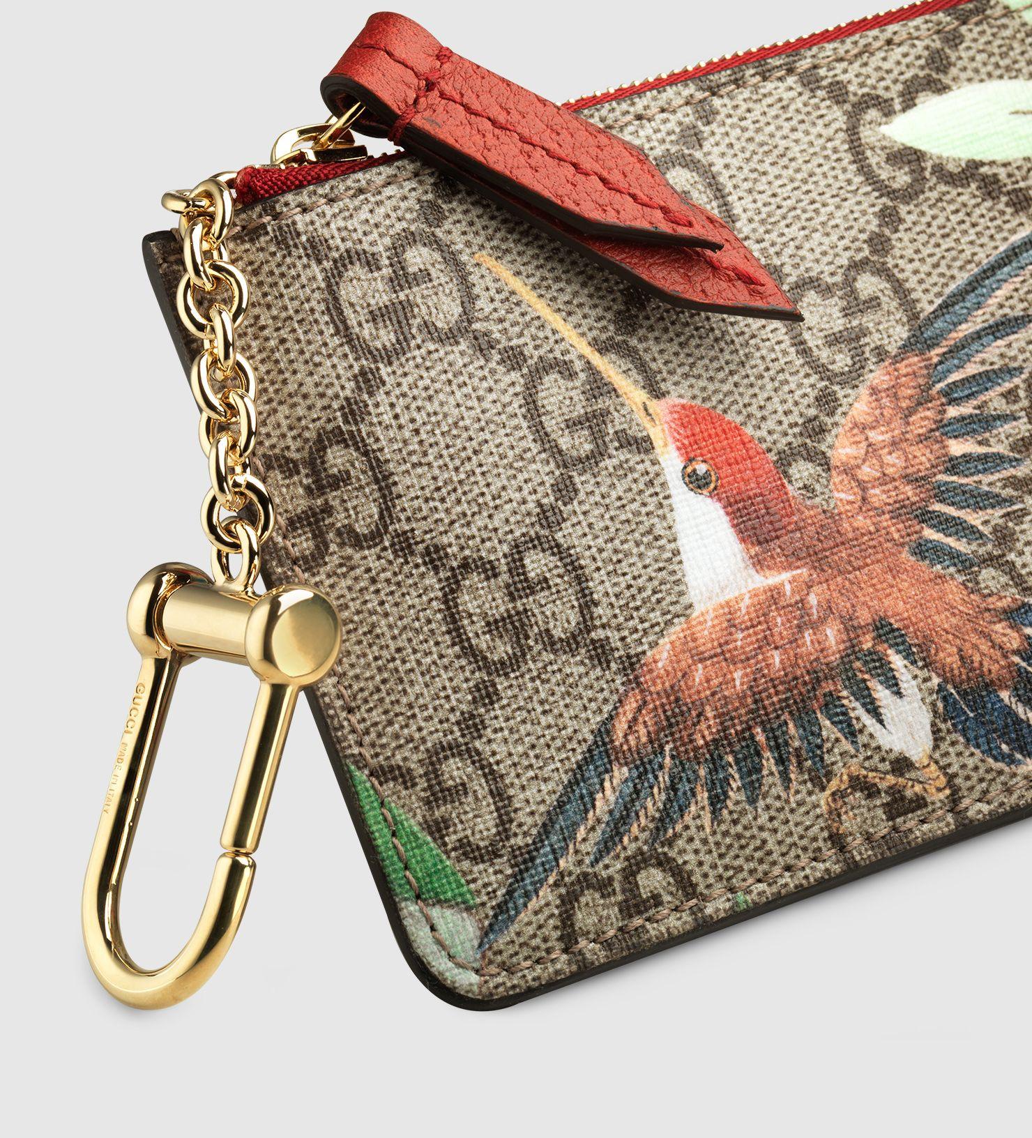 44a83fd6f Gucci Tian GG Supreme key case   SLGs   Key case, Chinese landscape ...