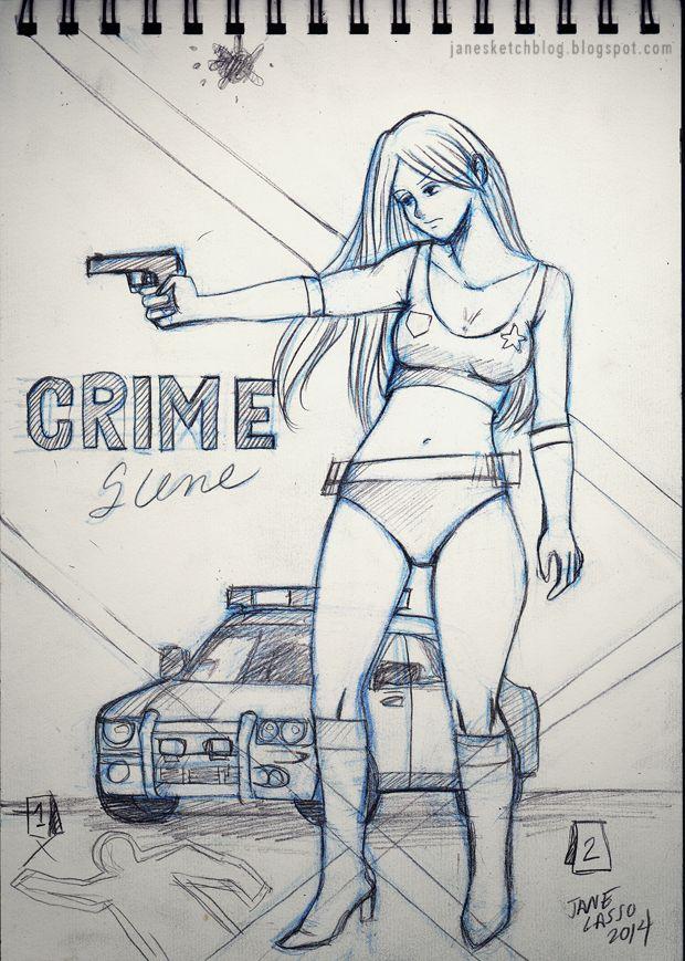 Dibujo Y Boceto De Escena Del Crimen Escenas Del Crimen Boceto Crimen