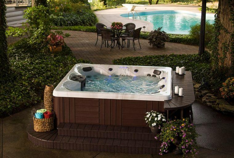 jacuzzi exterior 2 buscar con google jacuzzi pinterest jacuzzi jardin y piscina