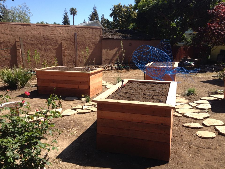 Tall raised garden beds! Just had these built for the