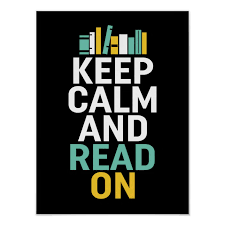 Keep Calm Read On Poster for Bookworm and Nerds | Zazzle.com