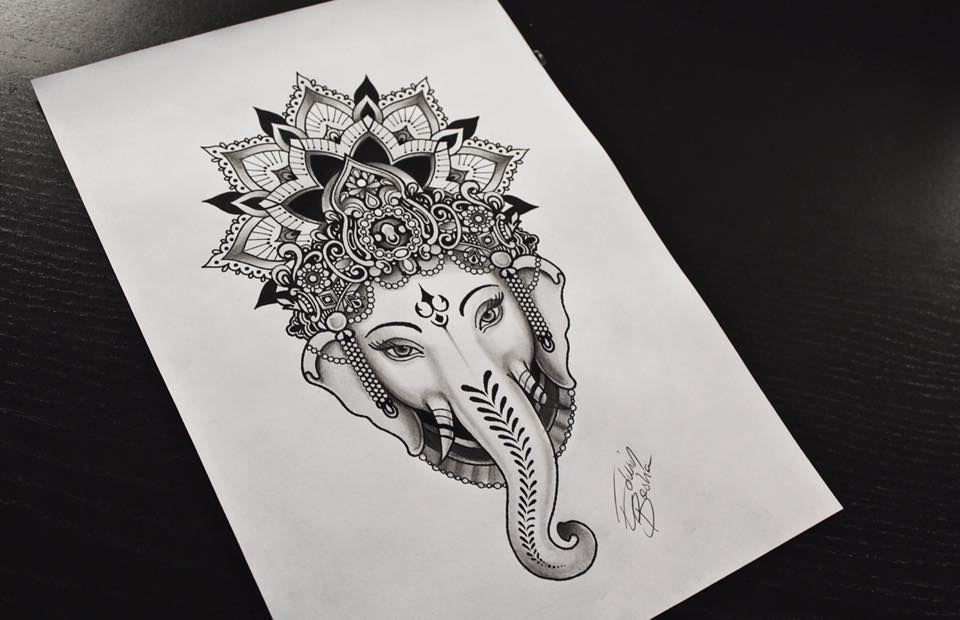 Ornamental Elephant Tattoo Tatuaggio Mandala Ganesh Arte Art Ink Tattoed Girl Tattooed Decor Ganesha Tattoo Elephant Tattoos Girls With Sleeve Tattoos