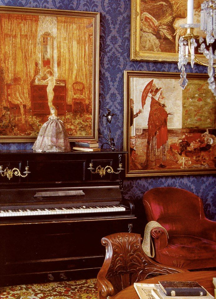 The artist James Ensor's (1860-1949) apartment in Ostend.  from: Artists' Houses by Gérard-Georges Lemaire, Photographs by Jean-Claude Amiel, 2005.