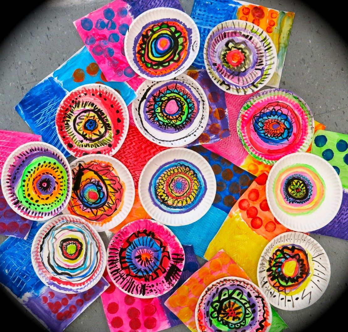 Tree Flowers 1: 1st: Paint Paper Plates with circles ...
