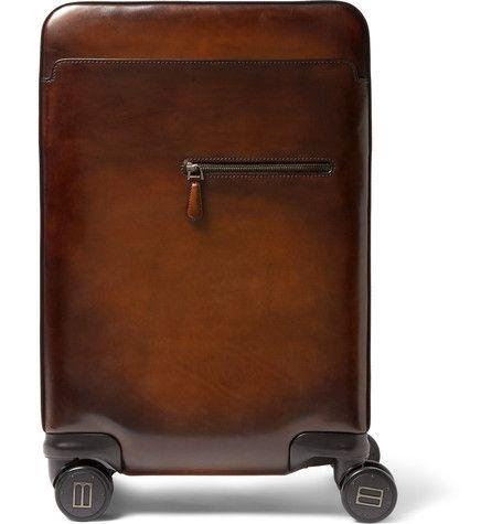 Polished-Leather Trolley Case | MR PORTER