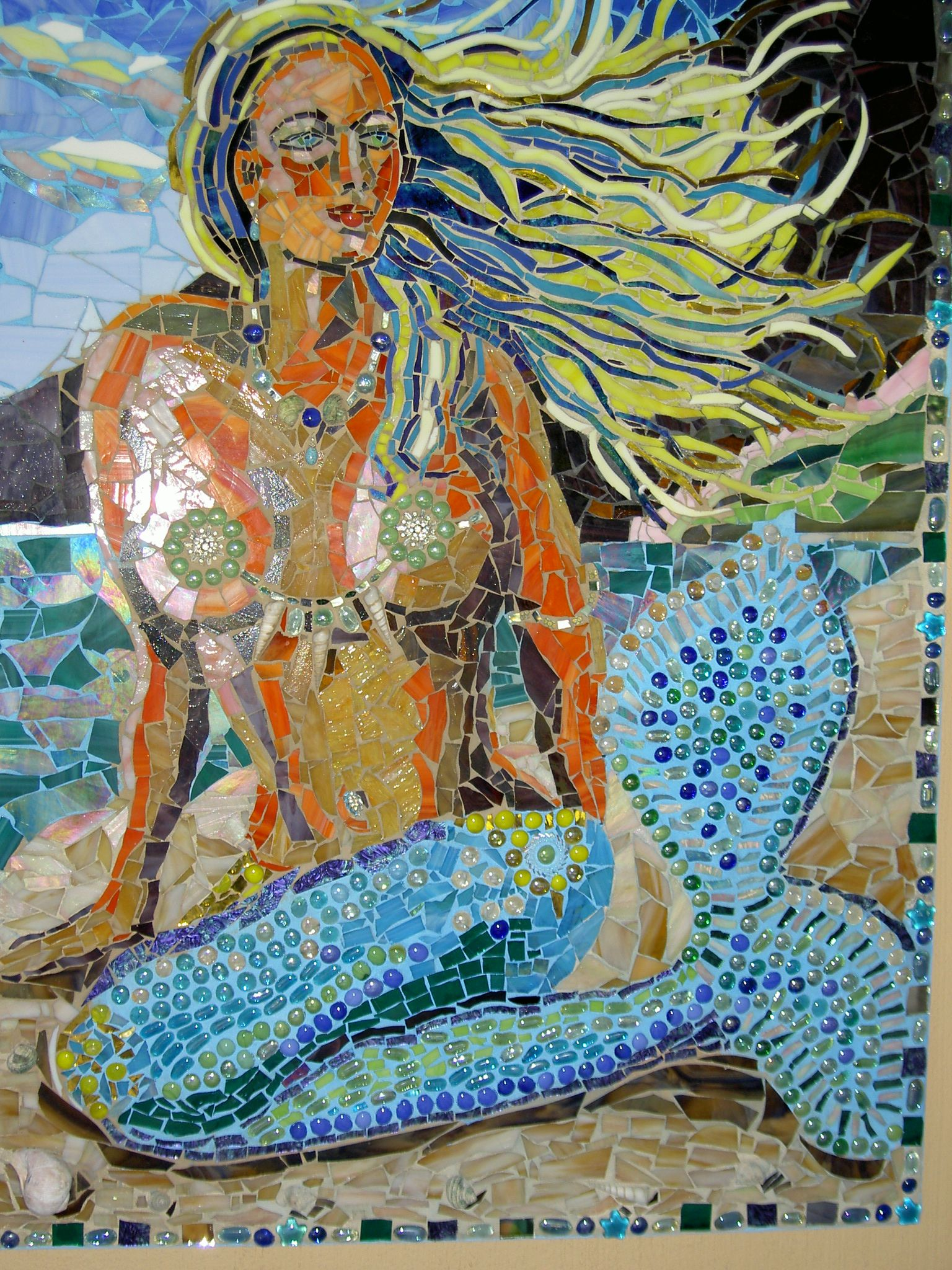 The Mermaid Cleo By Josephine Alexander Mosaics In 2019