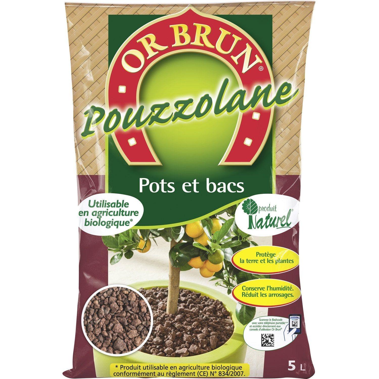 Pouzzolane De Protection Or Brun 5 L Agriculture Naturelle Agriculture Et Agriculture Biologique