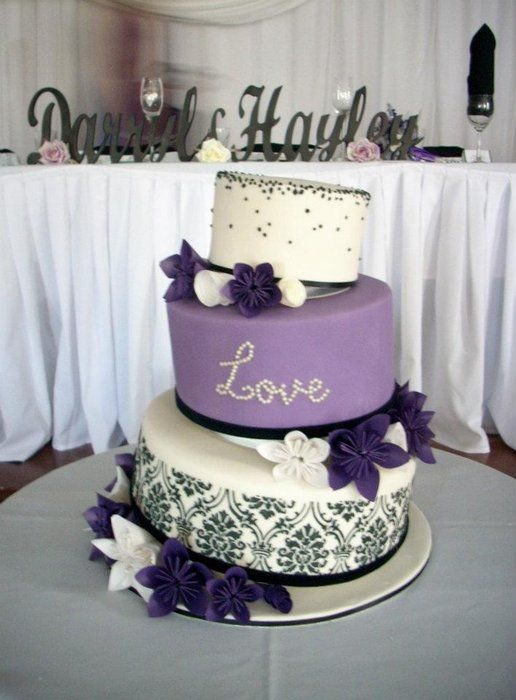 Wedding Cakes Purple Wedding Theme