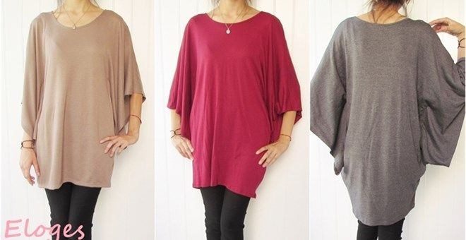 """Comfortable clothes have a place in every wardrobe.This Eileen poncho tunic gives you freedom to move, no matter what the occasion. When you don't feel like fussing with body-conscious tops and tees, throw on this boxy pullover and breath a stylish sigh of relief.Made in USA Relaxed fit model is size 4 and 5'7"""" tall, she wears size small Small (0-6)Medium (6-10)Large (10-14)XL (14-16)"""