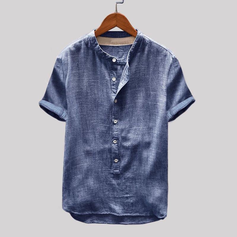 T-Shirt Vintage Damen Shirt Freizeit-Shirt mandarin Regular Fit V-Neck SALE