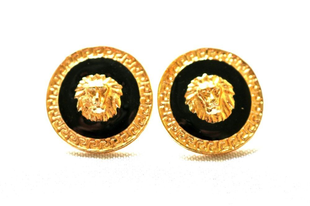 Mens Jewelry Hiphop Bling Men Earrings Stud Cool For Gift Him Gold