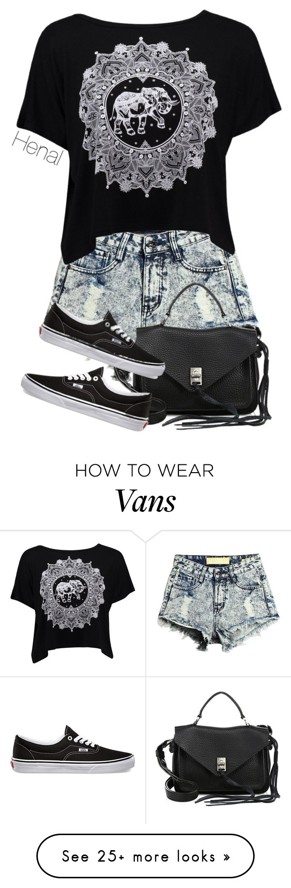 """""""Untitled #203"""" by henal on Polyvore featuring Rebecca Minkoff and Vans"""