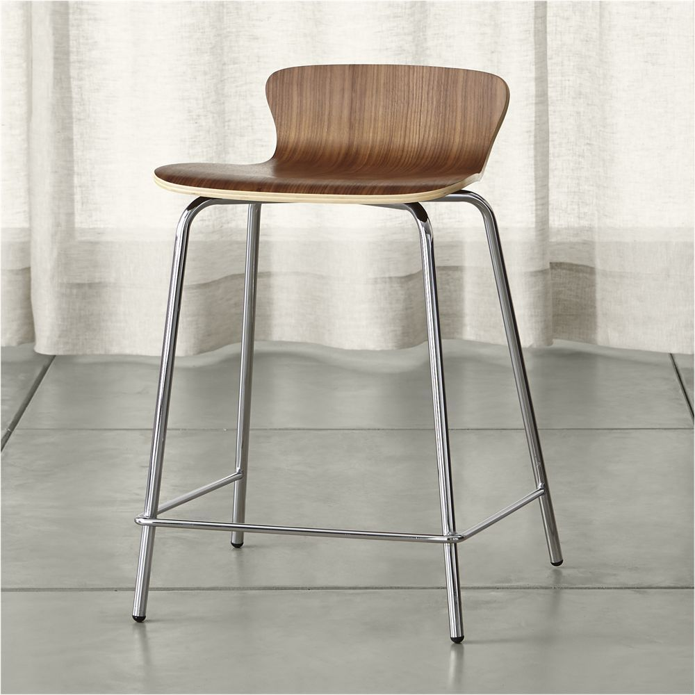 Wondrous Felix Walnut Counter Stool Crate And Barrel Counter Gmtry Best Dining Table And Chair Ideas Images Gmtryco