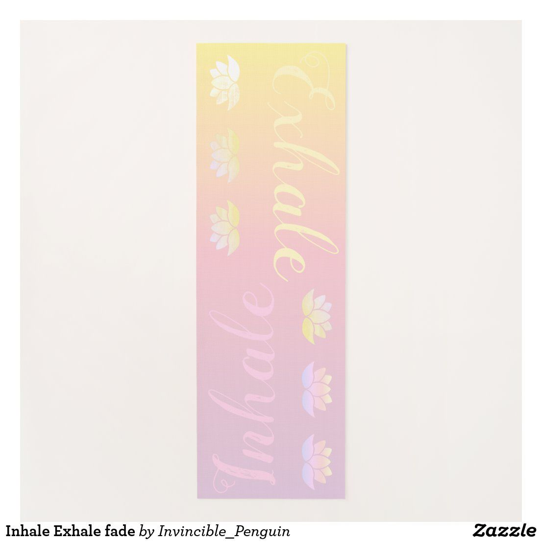 Inhale Exhale fade Yoga Mat   Zazzle.com