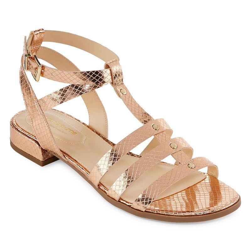 13fa0bd57ba Liz Claiborne Womens Fairfield Adjustable Strap Flat Sandals in 2019 ...