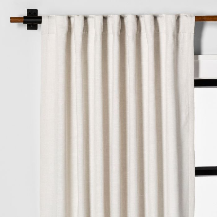 95 Curtain Panel Solid Sour Cream Hearth Hand With Magnolia