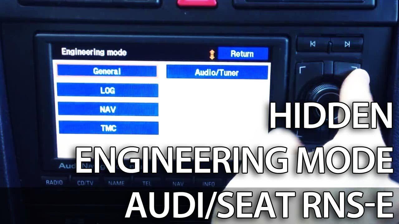 How To Unlock Secret Engineering Mode Menu In Rnse Audi A3 A4