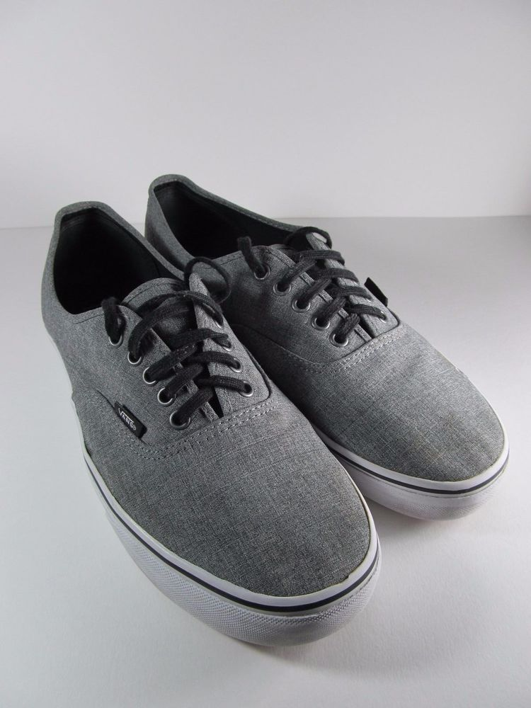 Vans gray color with black laces size 11.5 mens #VANS #Skateboarding