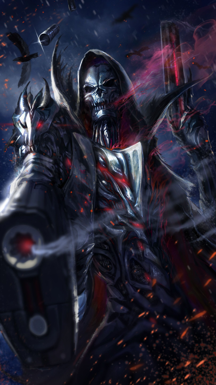 1620x2880 Cool Grim Reaper Live Wallpaper In 2019 Grim