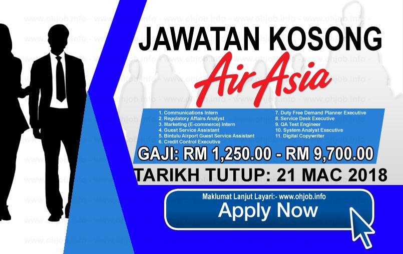 Jawatan Kosong Terkini AirAsia Berhad (21 Mac 2018