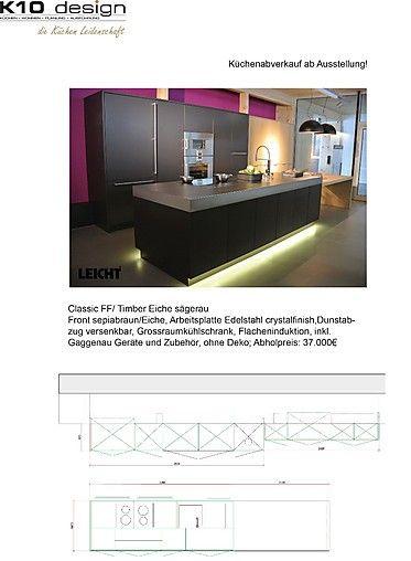 Leicht-Musterküche Luxusküche Ausstellungsküche in Frastanz von K10 - Nolte Küchen Fronten Farben