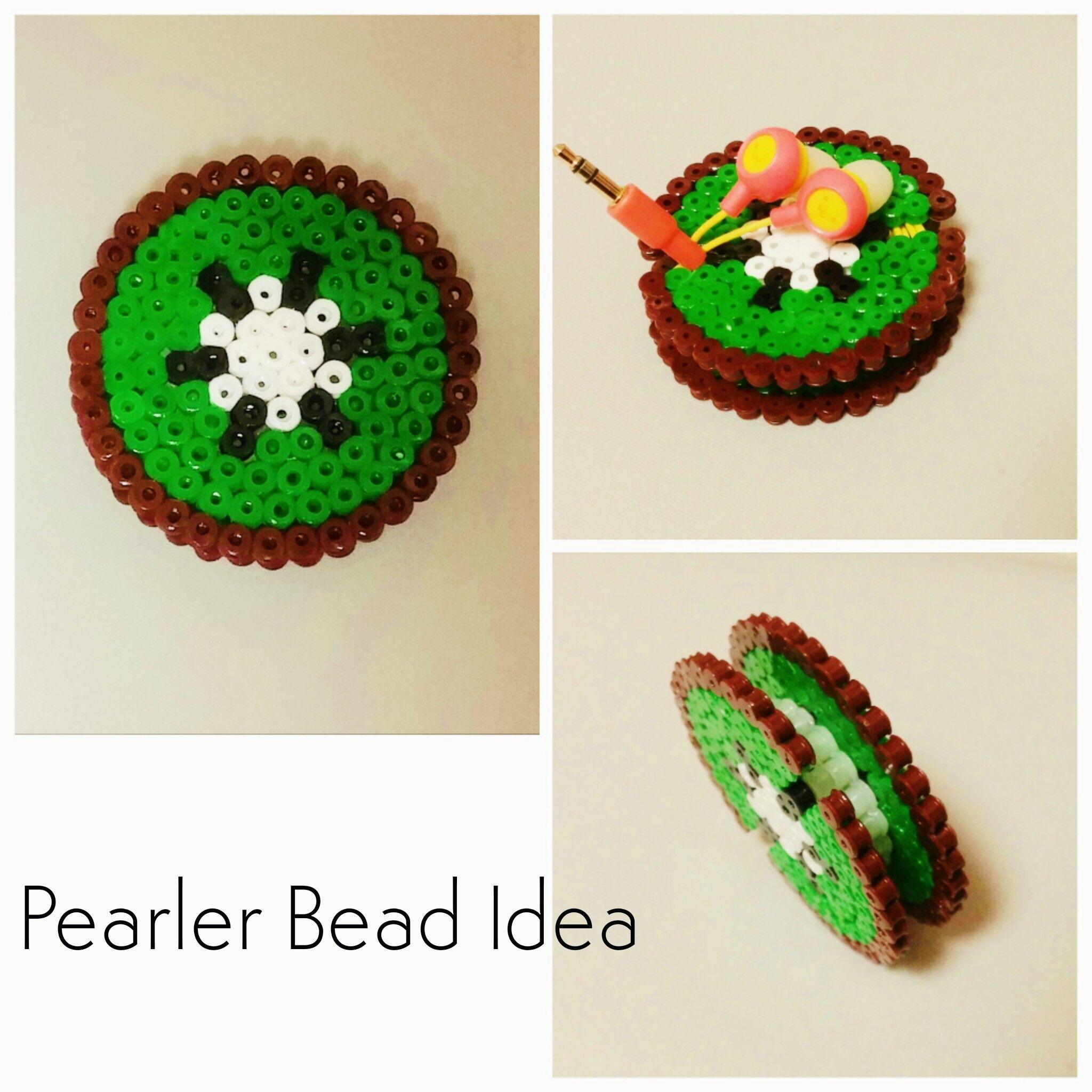 Pearler Bead Idea A Kiwi Earbud Holder Made Of Pearler Beads