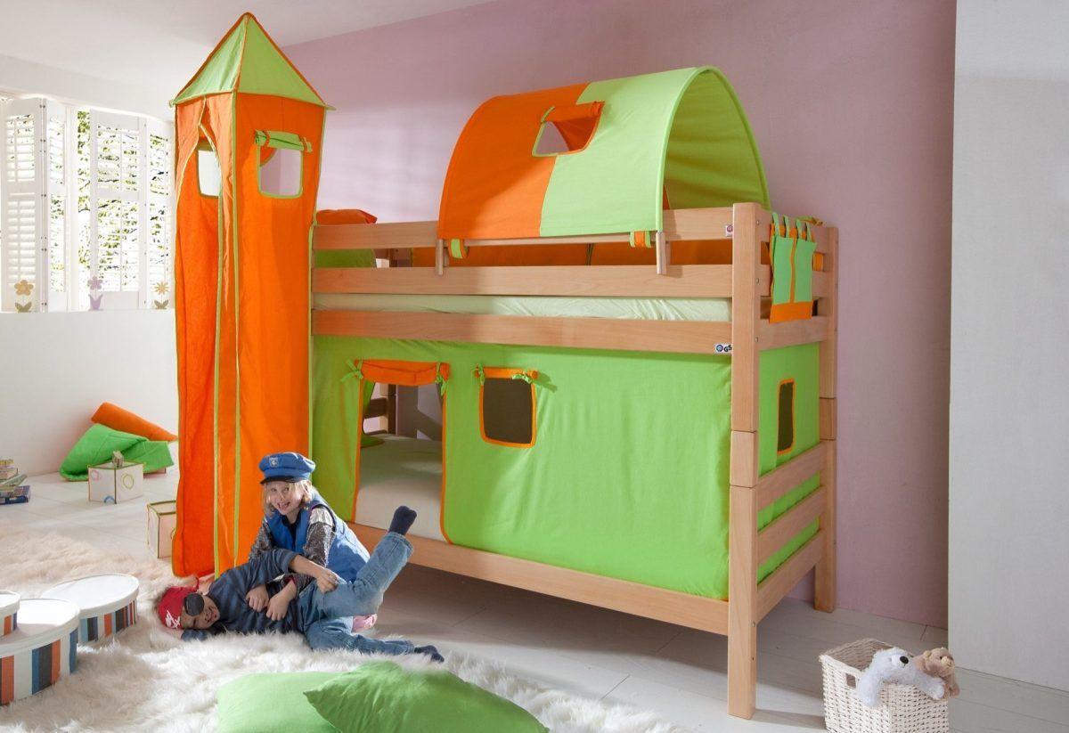 Quelle Etagenbett : Einzel etagenbett bunt buche natur lackiert relita fsc