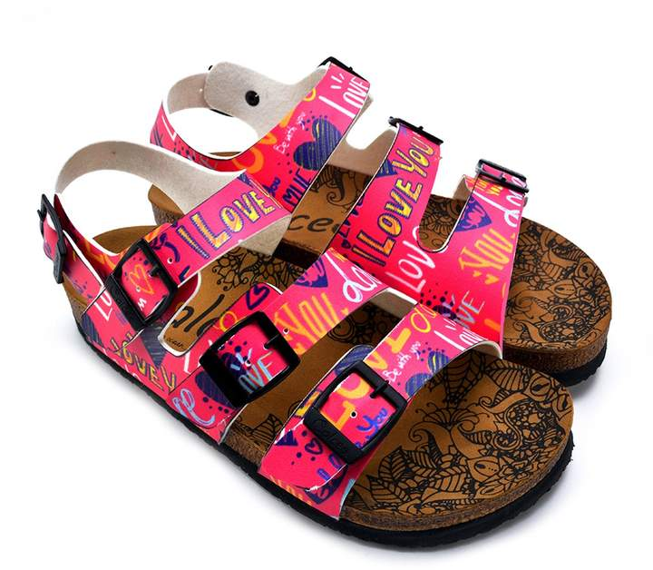 fb7ab6e2448c Calceo Hand Painted Leather Strappy Sandal