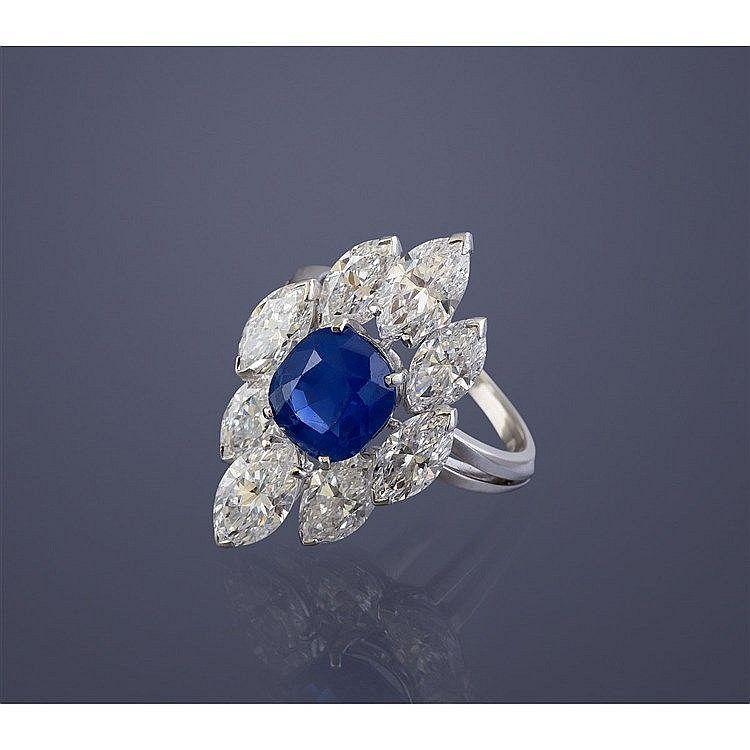 bague diamant taille navette