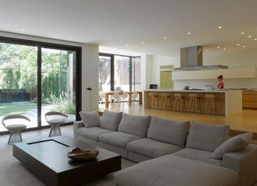 Dise o de casa moderna de dos pisos fachada e interiores for Decoracion de casas de playa modernas