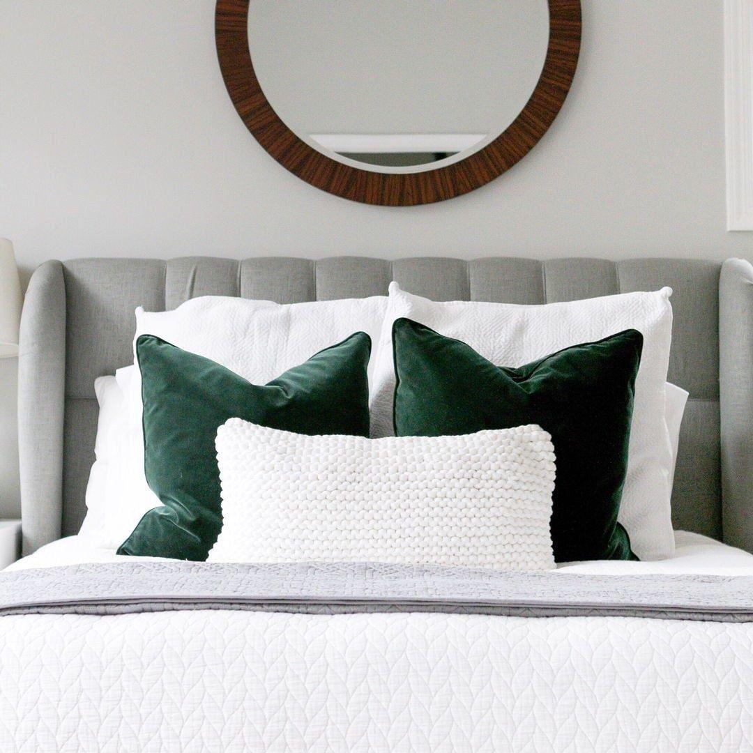 Lucca Balsam Green Pillow Set  Green master bedroom, Bedroom